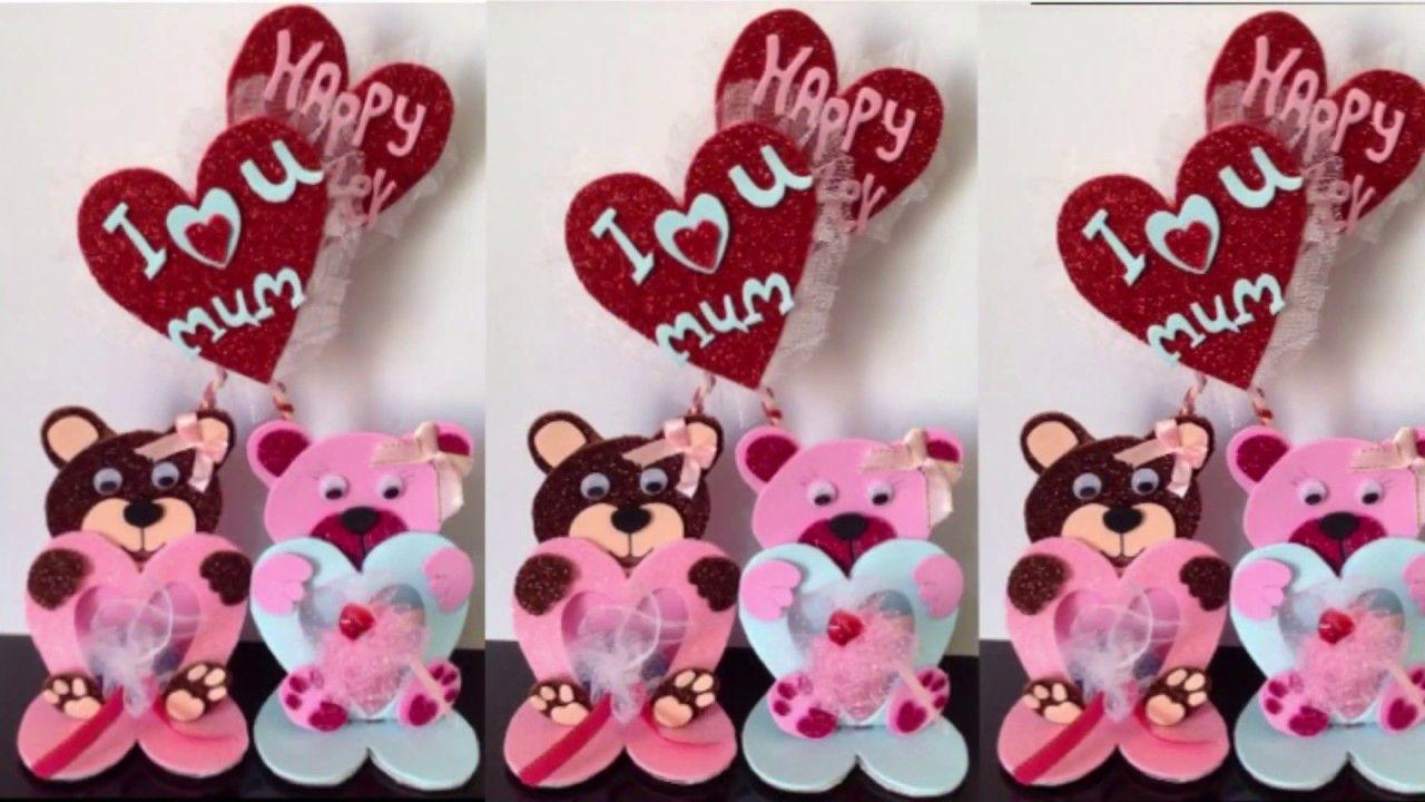 أعمال يدويه بسيطه من ورق الفوم توزيعات للأعياد وكافه المناسبات توزيعات العيد Youtube Minnie Minnie Mouse Disney Characters