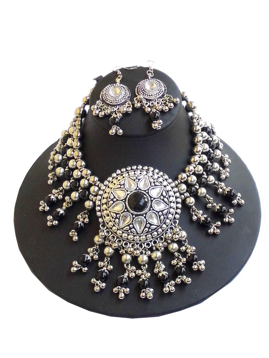 Oxidized / Black Metal Necklace | Indian Jewellery | Pinterest ...