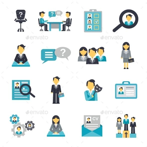 human resources icons flat  vector eps  cs  4500x4500