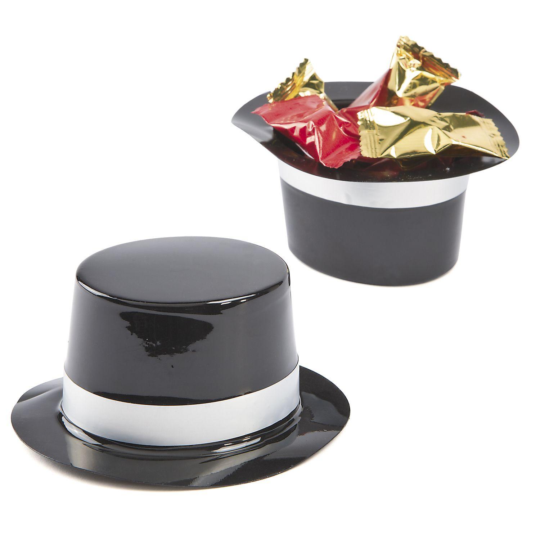 Mini Black Top Hats | Top hat centerpieces, Black top hat ...