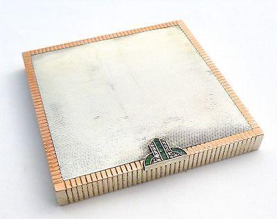 ANTIQUE ART DECO DIAMOND, EMERALD, AND STERLING SILVER POWDER COMPACT | eBay