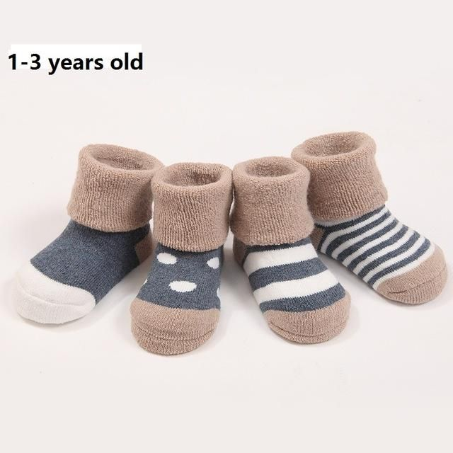 4pairs Lot Warm Winter Baby Socks Cute Soft Autumn Newborn Baby