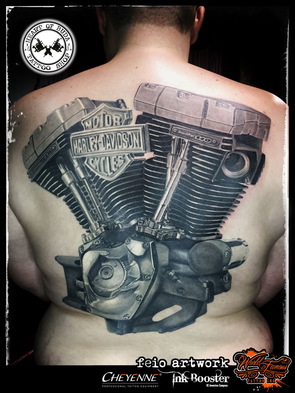 Motor Harley Davidson Cycles engine tattoo | Tattoo ... - photo#13