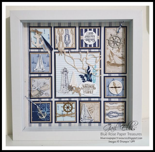 Photo of Sail Away Nautical Shadow Box