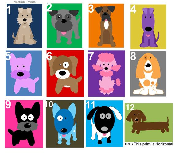 Dog Art for Kids Room // Dog Themed Nursery // Cute Dog Art // Puppy ...