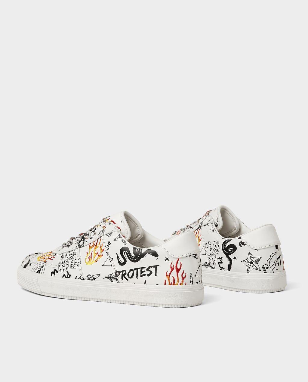 GRAFFITI SNEAKERS from Zara   Sneakers