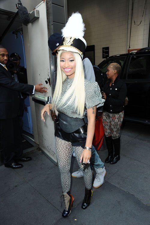 Nicki Minaj arriving at the NYC American Idol auditions (September 17).