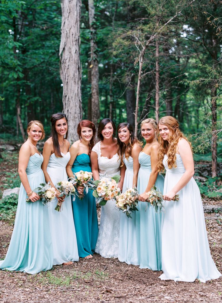 Nathan Westerfield Photography - http://www.nathanwesterfield.com - Nashville Wedding Photography - Film Photography - Modern Vintage - Wren's Nest - Murfreesboro - Rustic Outdoor - Blue Pastel Bridesmaids Dresses