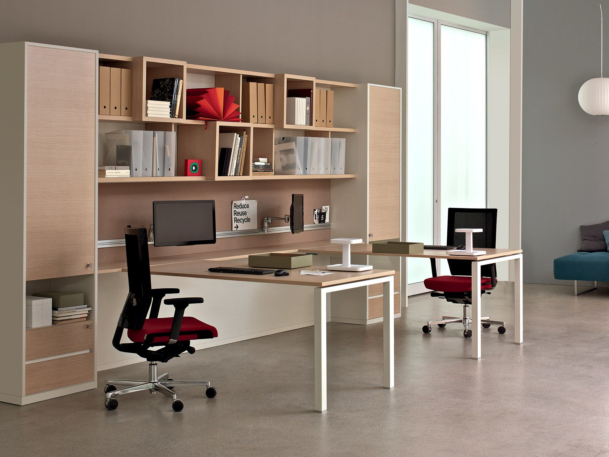Estel Mobili ~ Multiple office workstation workwall asterisco in by estel group
