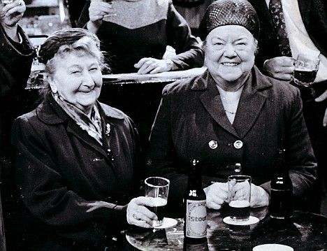 Minnie Caldwell and Ena Sharples. Coronation Street.