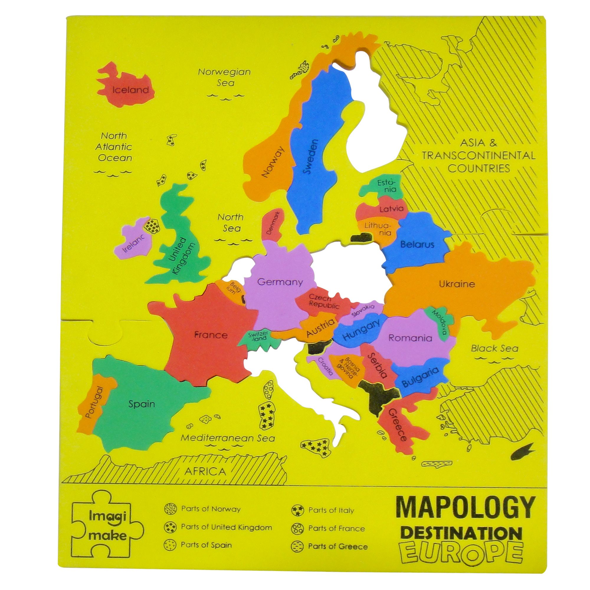 Europe map puzzle with all major european countries mapology map puzzle to learn indian states and worlds largest countries gumiabroncs Images