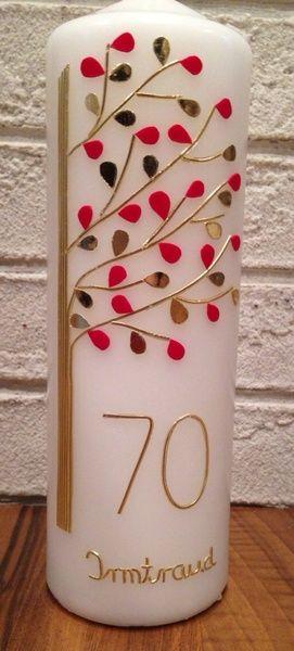 Geburtstagskerze - Lebensbaum von Urschelini auf DaWanda.com