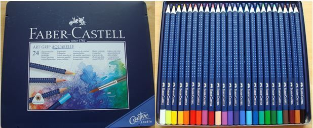 Faber Castell 24 Art Grip Aquarelle Pencils A Review Colouring