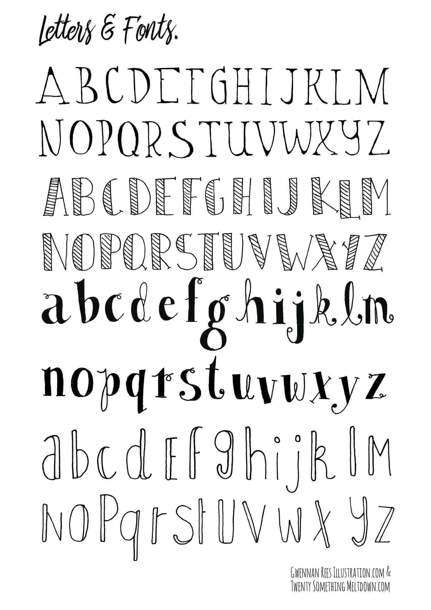 Hand Lettering Alphabet Tumblr Luxury Click To Download Letters