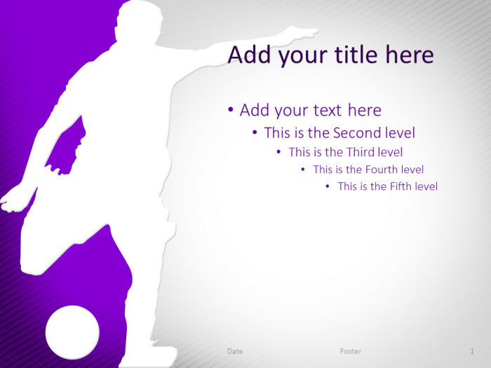 soccer powerpoint template purple | sport powerpoint templates, Powerpoint templates