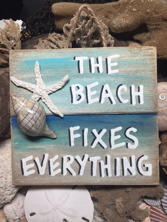 Beach Pallet Art Wooden Beach Fixes Everything Sign Beach Etsy Pallet Wall Art Beach Decor Beach House Decor