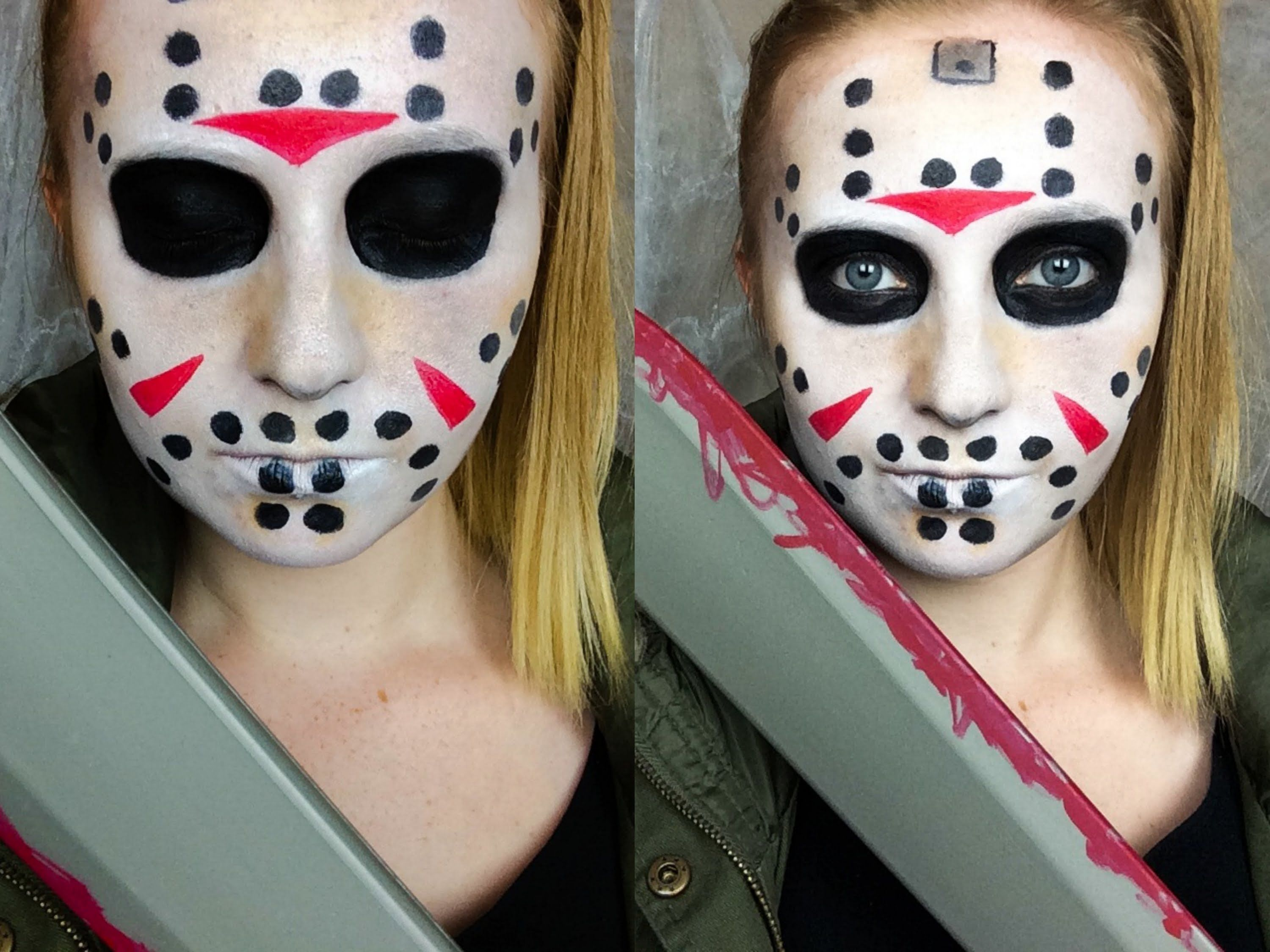 Halloween Costume Jason Friday 13th.Simple Jason Voorhees Friday The 13th Makeup Tutorial Costume In