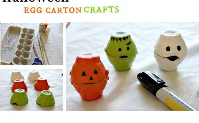 Halloween Egg Carton Craft Scary Halloween Crafts Egg Carton