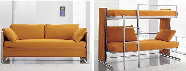 Sofa converts to bunk bed!