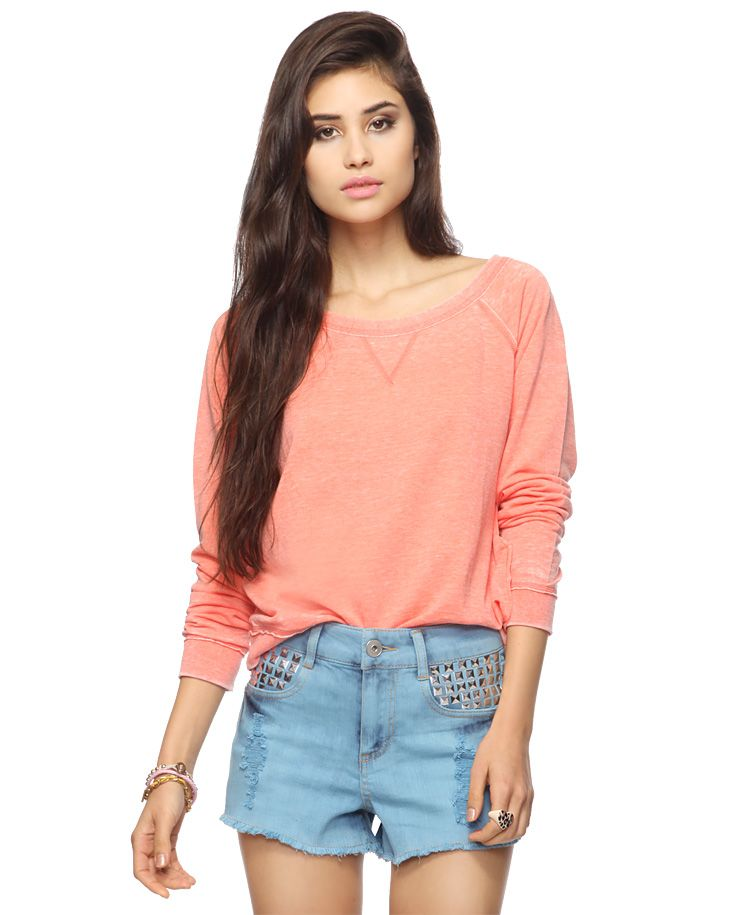 Burnout French Terry Pullover | FOREVER21 - 2000034468