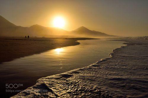 GOLD BEACH by harmony1  BEACH COFETE FUERTEVENTURA GOLD SUNSET harmony1