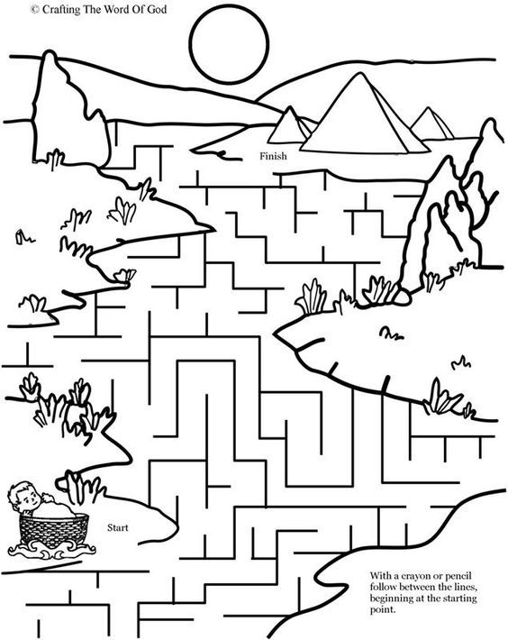 Moses In The River Puzzle (Activity Sheet) Activity sheets are a ...
