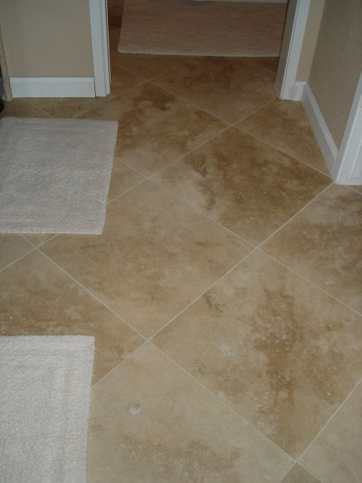 Floors Tiles And Diamond Pattern18x18 Turkish Travertine Light