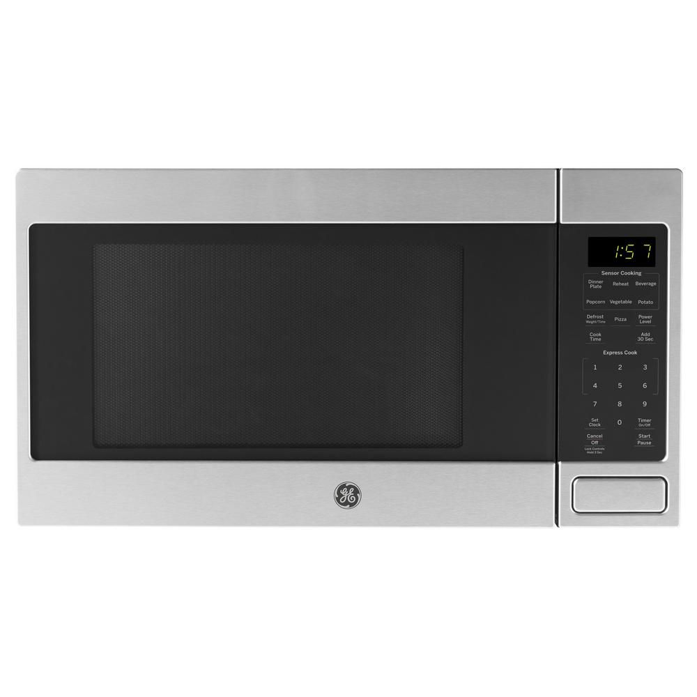 Ge 1 6 Cu Ft Countertop Microwave In Stainless Steel With Sensor