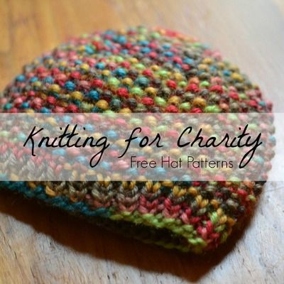 Knitting For Charity 31 Free Hat Patterns Knitting Pinterest