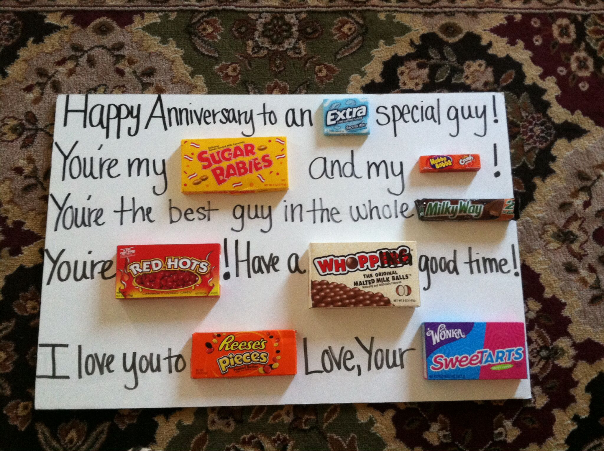 candy anniversary gifts for him