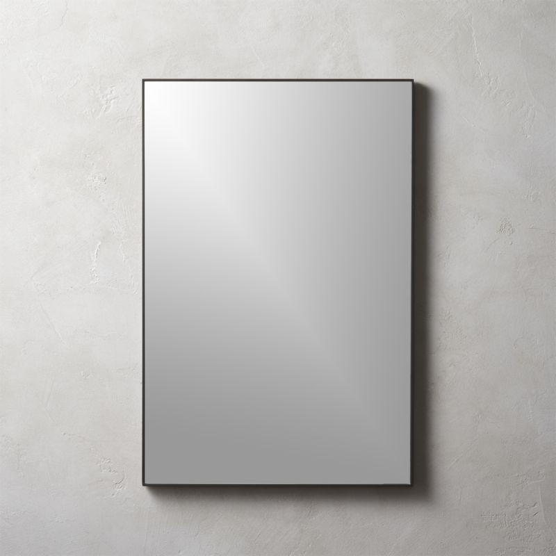 Infinity Black Rectangle Mirror 24 X36 Reviews Rectangle Mirror Modern Mirror Wall Bath Mirror