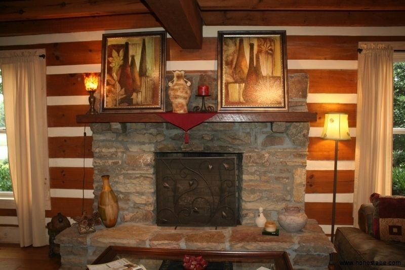 Murfreesboro Model Home Gallery | Log Homes with Fireplaces