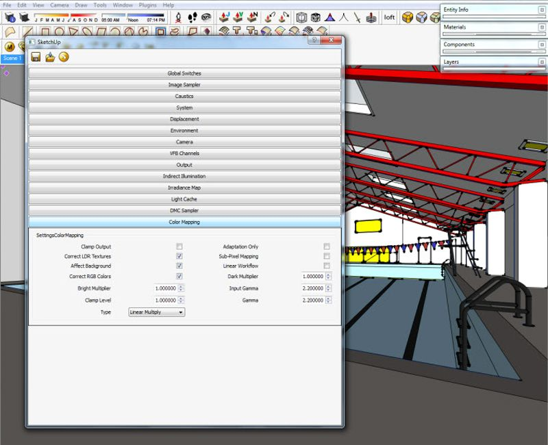 V Ray For Sketchup Color Mapping