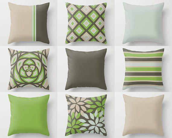 Sofa Pillow Covers Decorative Pillows Mint Green Yellow Brown Sofa Pillow Covers Sofa Pillows Brown Pillow