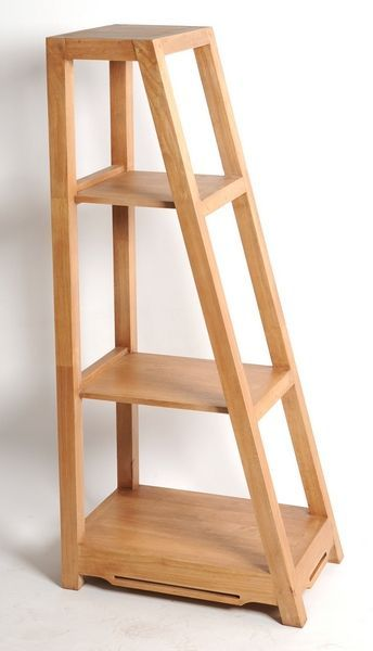 Etagere Escalier Hevea Massif Naturel Double Face Etagere