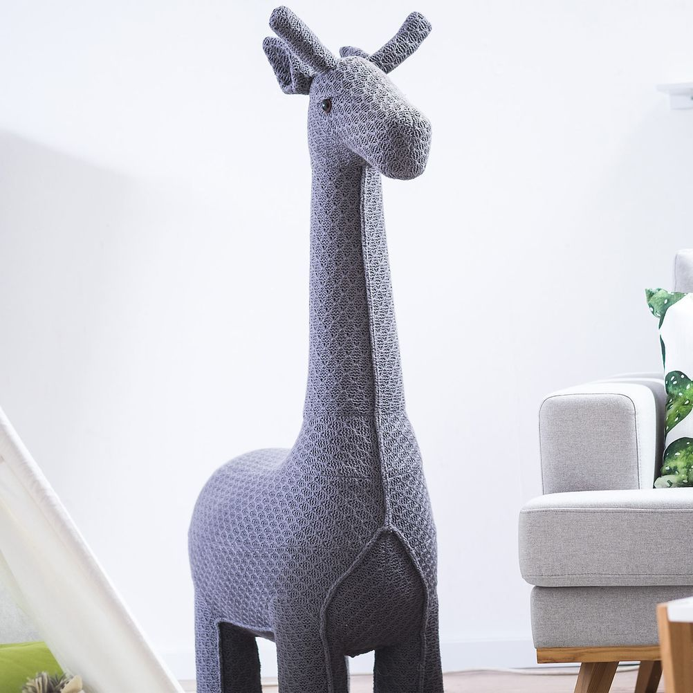 Hocker Giraffe 75x35x128cm Dunkelgrau Dkl Grau Kinderzimmer