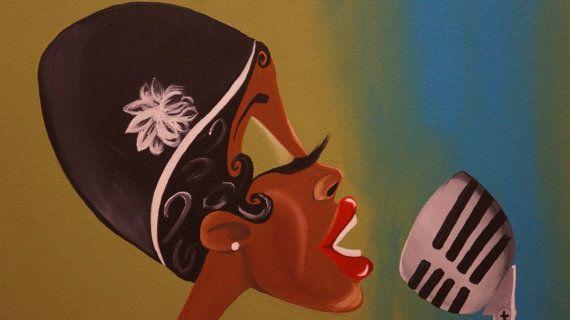 Black Art/ African American Art Fannie the Flapper by ArtbyTiffani