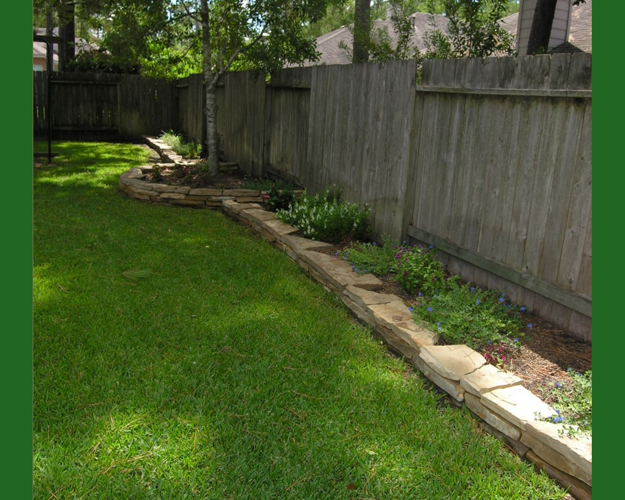 Image detail for nice rock landscape edging also makes for Easy gardener lawn edging
