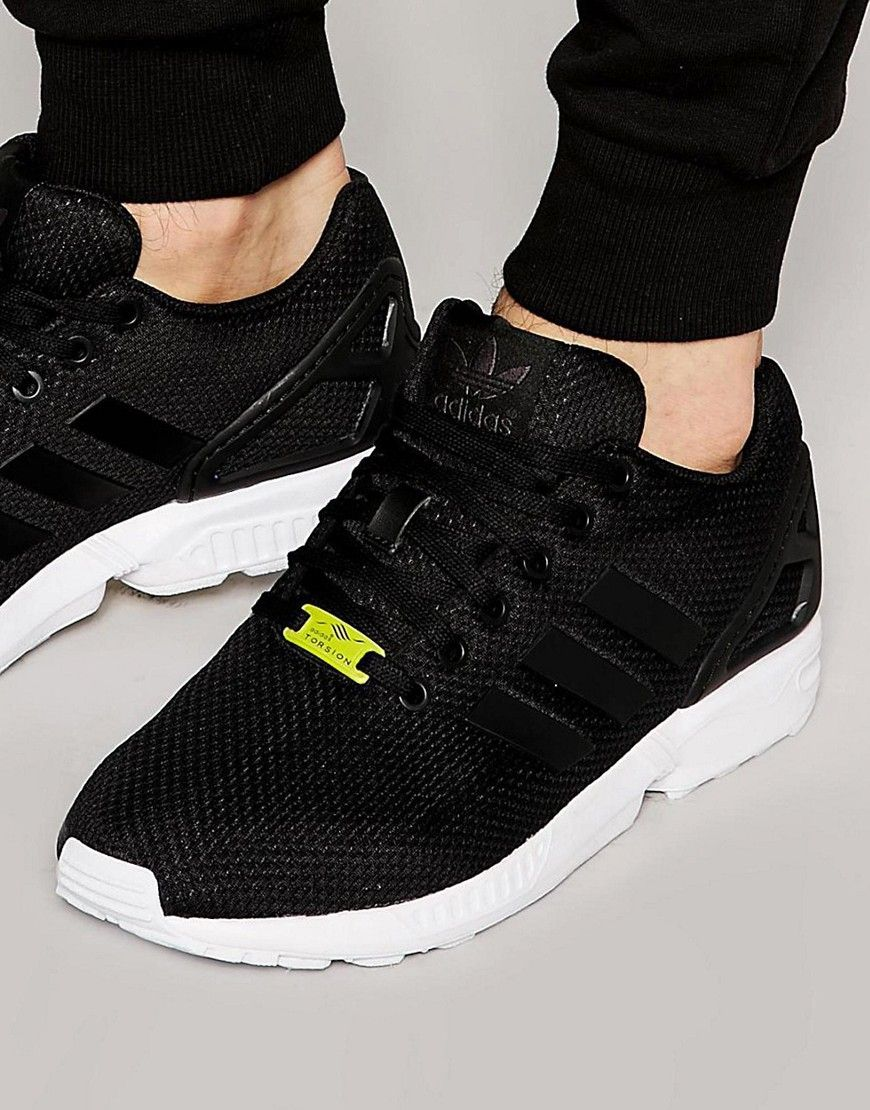 ed83ab1ac21 adidas Originals ZX Flux Sneakers In Black M19840 - Black | Products ...