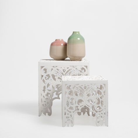Little Openwork Table Set Of 2 Occasional Furniture Zara Home