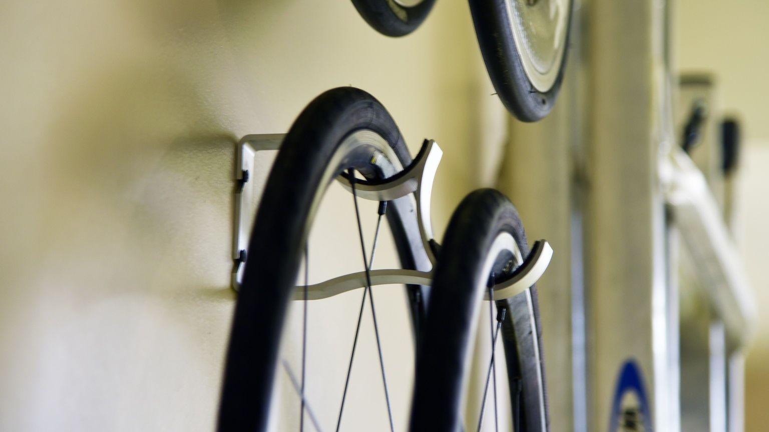 Offset Bicycle Wheel Storage Bike Storage Solutions Bike Storage Bicycle Wheel