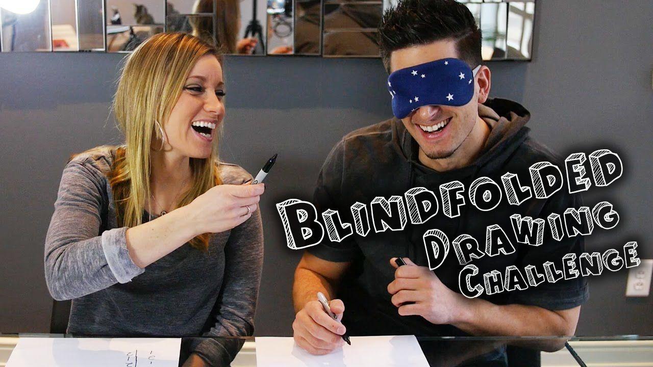 blindfolded drawing challenge