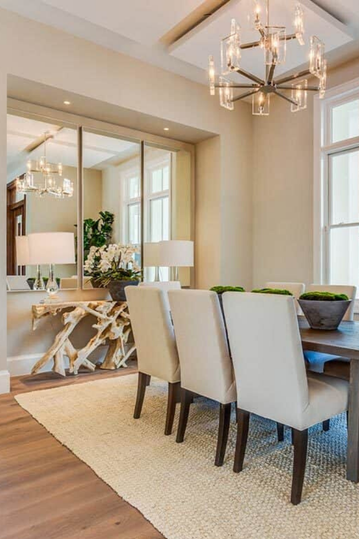 Sophisticated Home With Spacious Covered Lanai Elegant Dining Room Classy Dining Room Dining Room Design