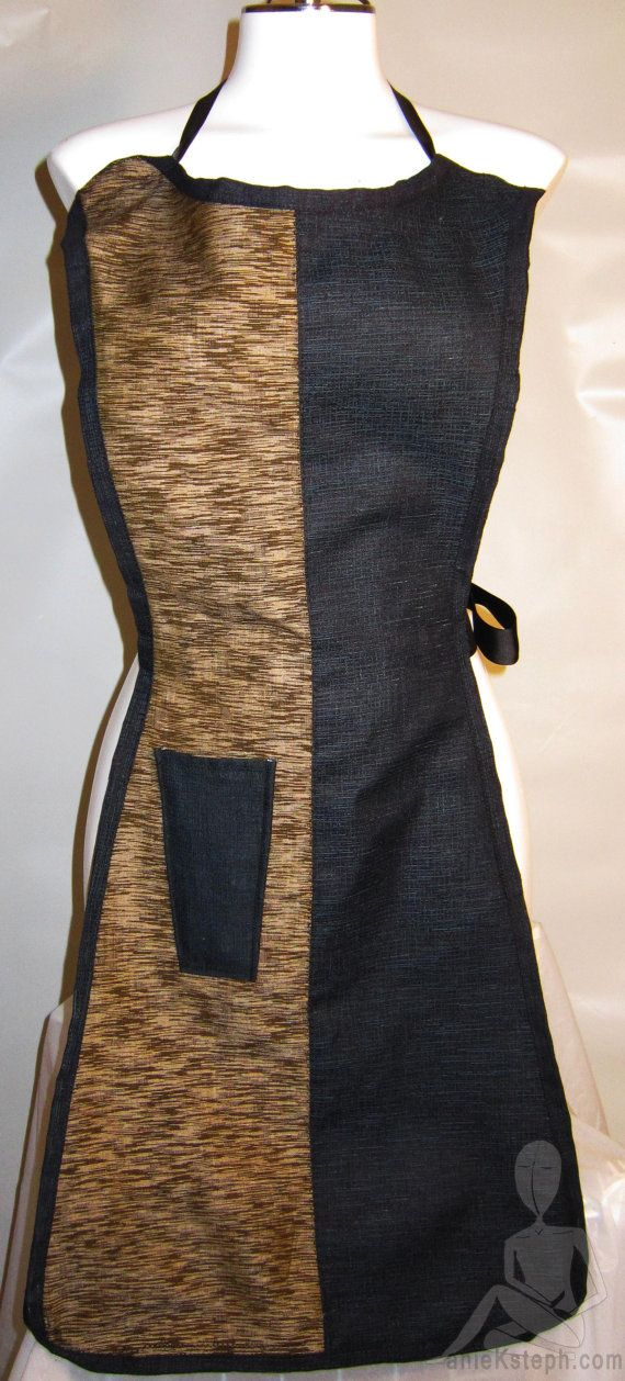 Sexy Silhouette Apron in Imported Indigo Wool and by LillyBoChic