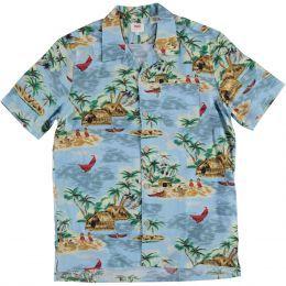 bf1b7940 Levis SS Hawaiian Shirt Pelican Blue | Stuff to buy | Christmas ...