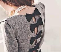Inspiring picture fashion, bows, pearls, style, stylish, outfit, girl.