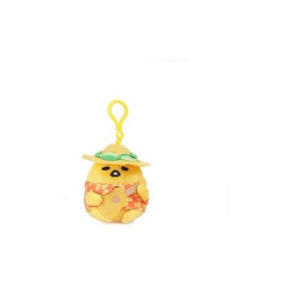 Gudetama Mascot Plush Keychain Ukulele ($18) ❤ liked on Polyvore featuring accessories, ring key chain, keychain key ring, plastic key chains, key chain rings and mini key chain