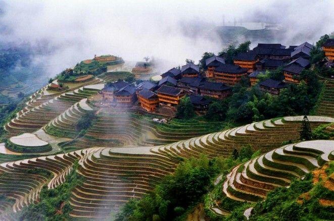 Longji rice terraces Guilin, China So incredibly beautiful! I want to go back