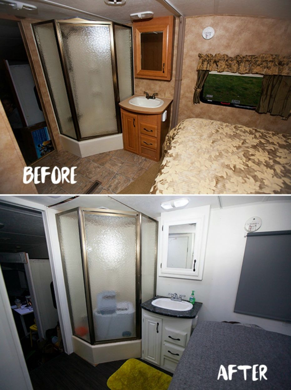 Travel Trailer Bathroom Remodel Interior House Paint Ideas - Travel trailer bathroom remodel