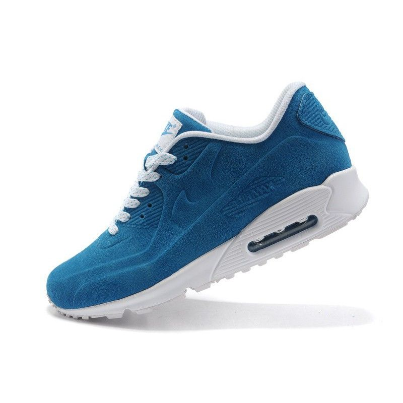 huge discount 031b6 868e8 Nike Air Max 90 VT Suede Men s Running Shoes Light Blue